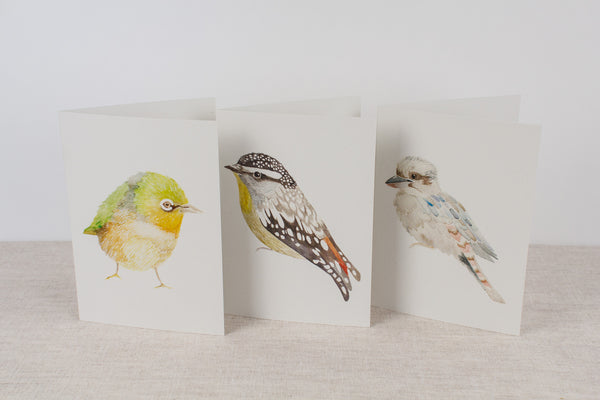 Set of 3 cards - Native Birds