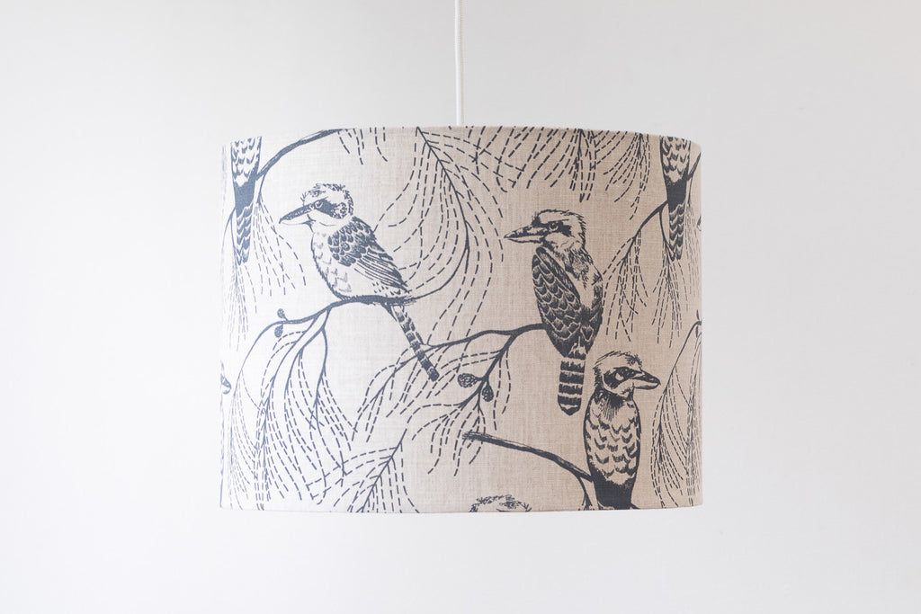 Drum Shade - Kookaburra in Bluestone