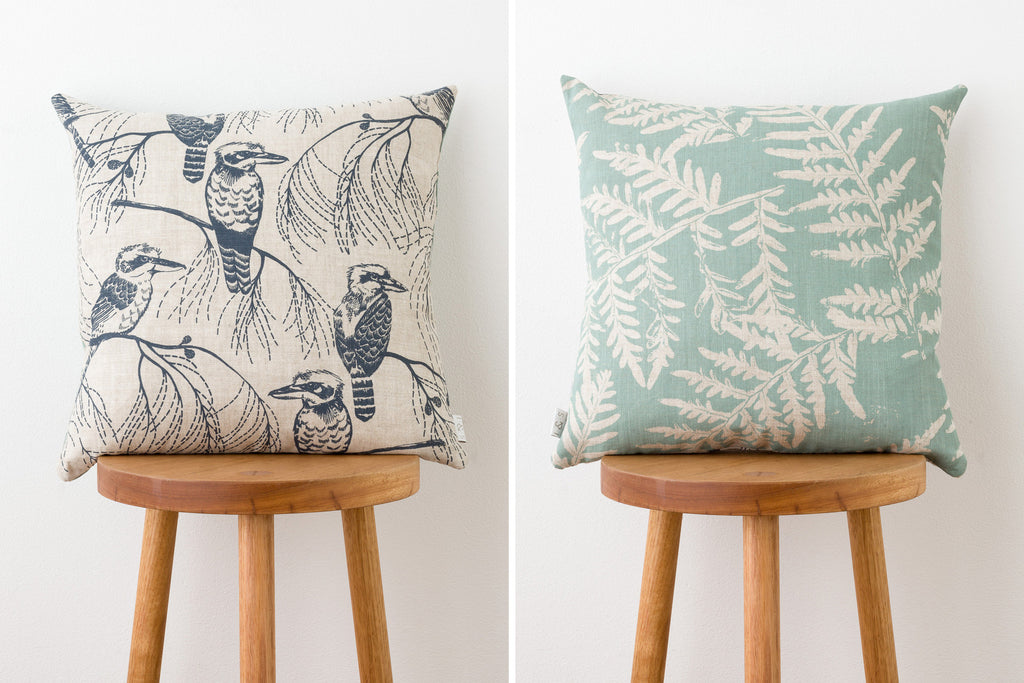 Cushion - Kookaburra & Bracken