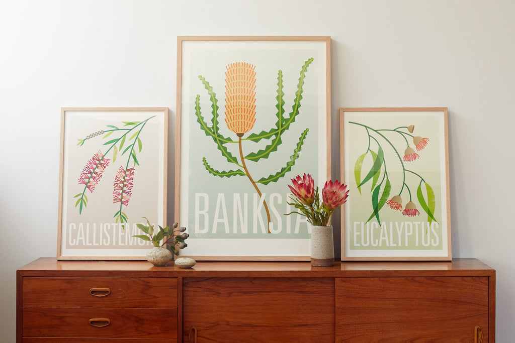 Set of 3 Botanical Fine Art Prints
