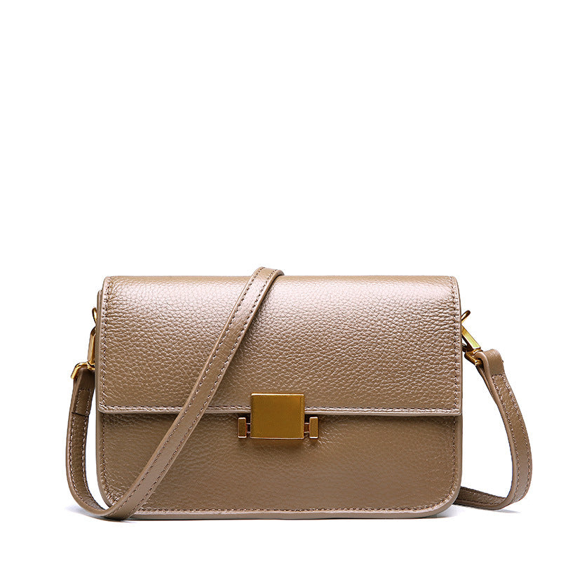 Retro Crossbody Tofu Leather Bag