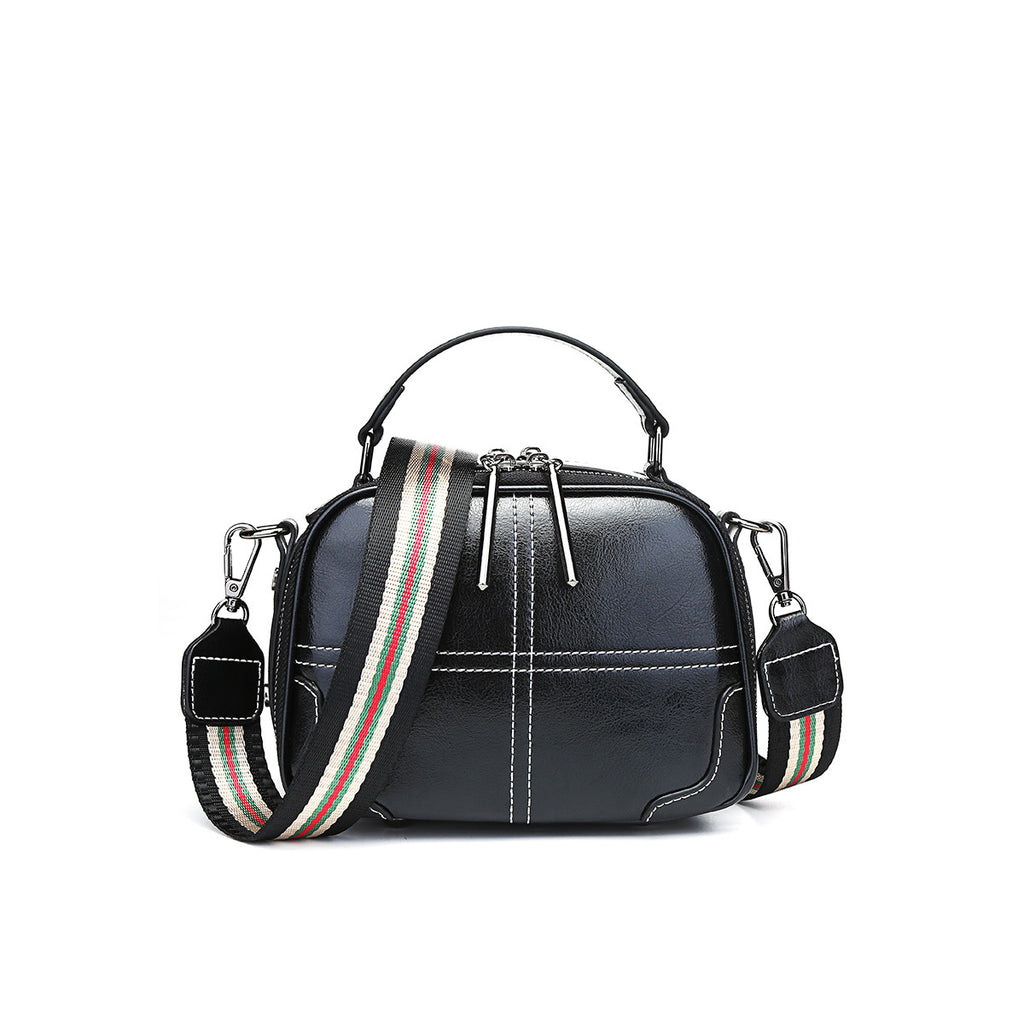 Double-layer Broadband Portable Leather Bag