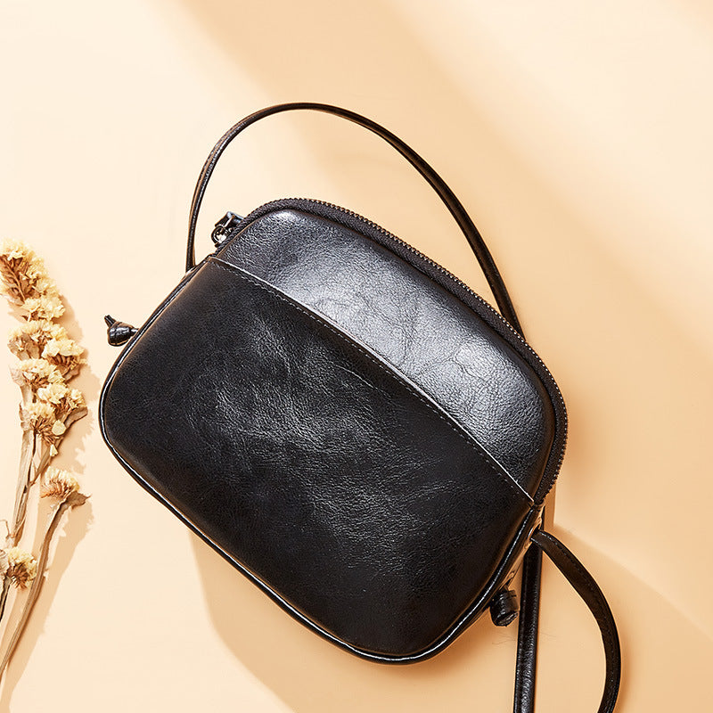 Oil Wax Retro Leather Shoulder Bags