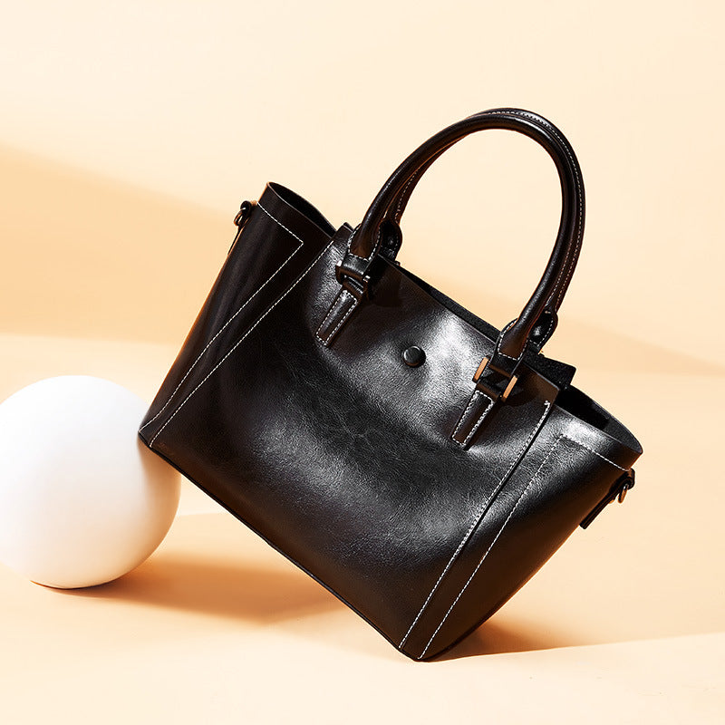 Oil Wax Wild Shoulder Leather Bag