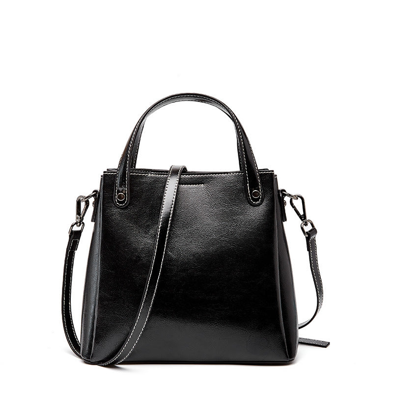 Retro Oil Wax  Classic Bucket Leather Bag