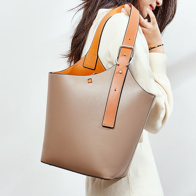 Broadband Bucket Leather Bag
