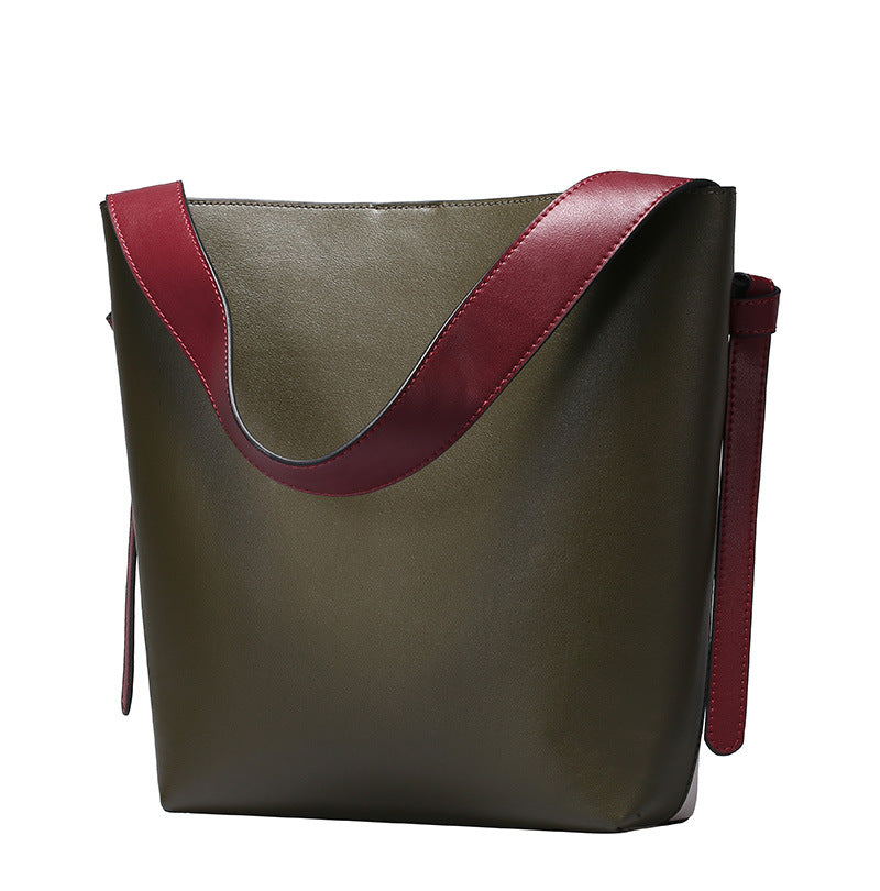 Bucket Leisure Fashion Leather Shopping Bag