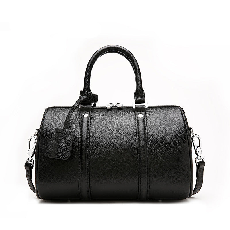 Boston Single Shoulder Portable Leather Bag
