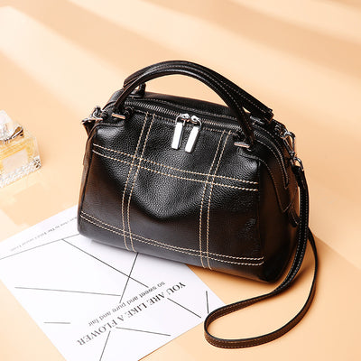 Baotou Layer Cowhide Leather Bag