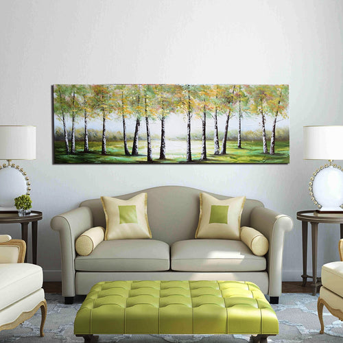 Hand Painted 'Deep Forest' Oil Painting - CA2039