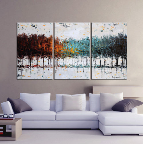 Hand Painted 'Abstract Forest' Oil Painting - CA714