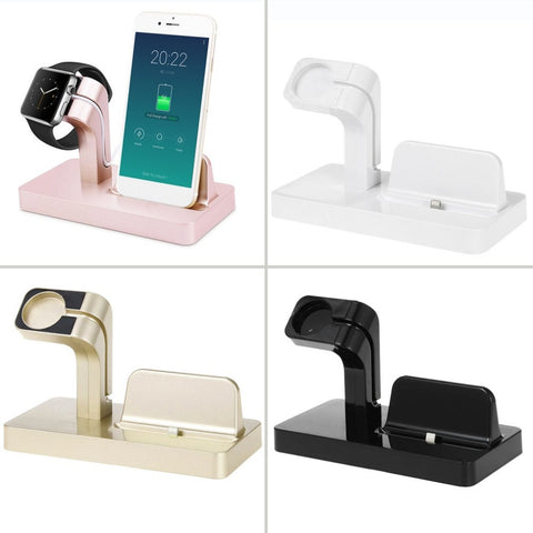 2 in 1 Charging Dock For Apple Charger Holder For Apple Watch For iPhone 6/6plus/6s/7plus Phone Watch Bracket For Apple Series
