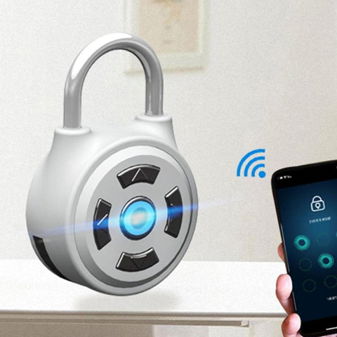 1PC Keyless Anti-theft Lock Password Lock with Smart Mobile Phone Bluetooth APP for Doors/Cabinets/Bikes/Backpacks/Storage
