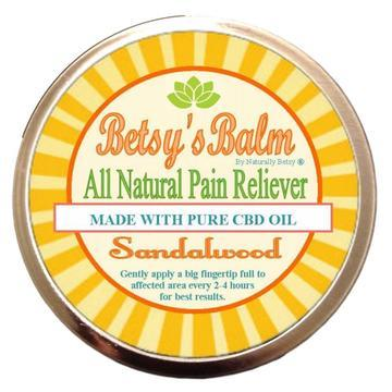 Betsy's Balm All Natural Pain Reliever with CBD Oil - CBD Discount Shop
