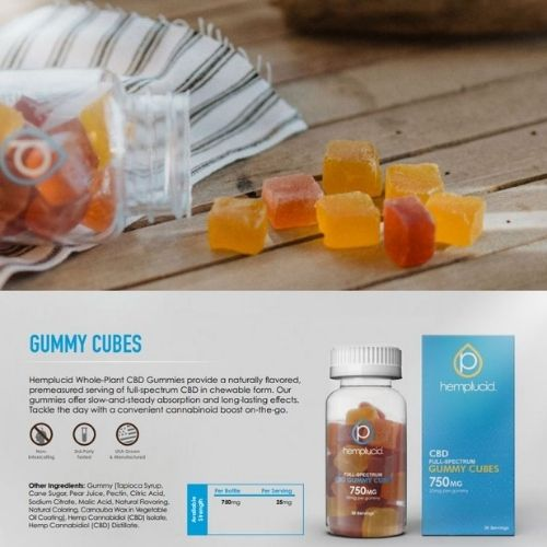 Full Spectrum CBD Gummy Cubes
