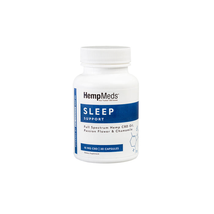 HEMPMEDS Sleep Support CBD Capsules | 15mg  30 Count