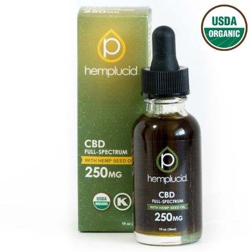 USDA Organic Full Spectrum CBD in Hemp Seed Oil