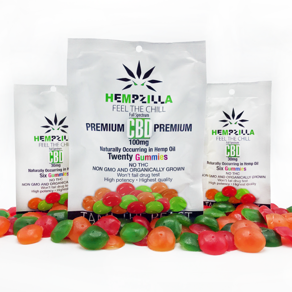Hempzilla CBD Gummies - 20 Pack - CBD Discount Shop
