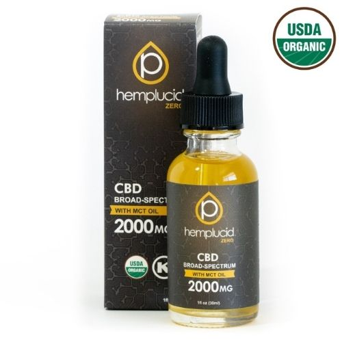 USDA Organic Broad Spectrum CBD in MCT Oil - Extra Strength