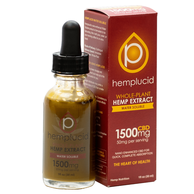 Hemplucid Tincture Water Soluble - 250mg to 1500mg - CBD Discount Shop
