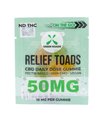 Green Roads World On The Go Relief Toads | 50mg (30ct)