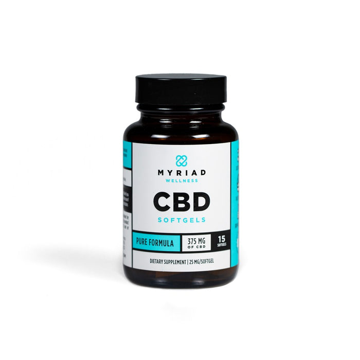 Myriad Pure CBD Softgels | 375mg
