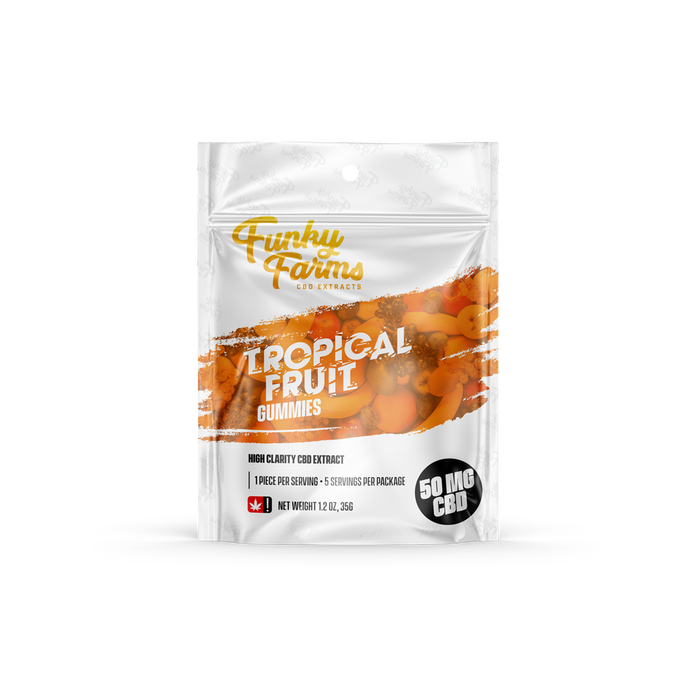 Funky Farms Tropical Fruit Gummies 5 pack | 10 count box