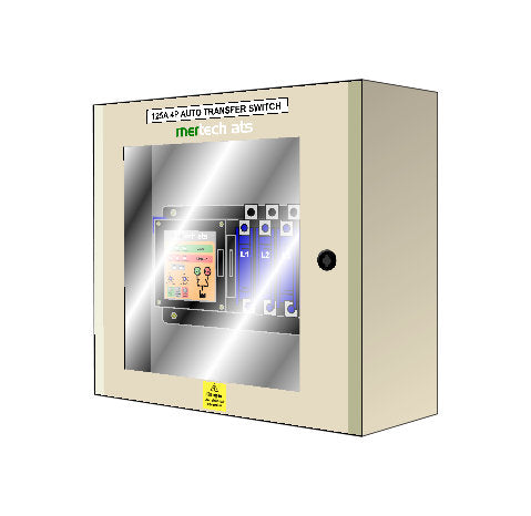 Utility Type Auto Transfer Switch - Class PC - 4 Pole Using Motorised Switch