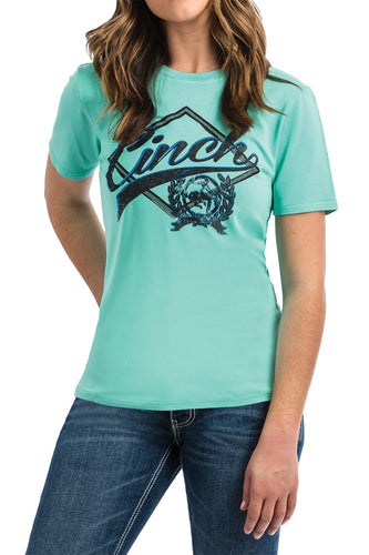 Cinch Ladies Turquoise Tee MST7848002