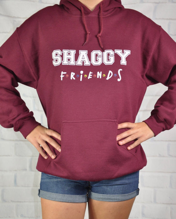 Maroon Shaggy Friends Collegiate Hoodie
