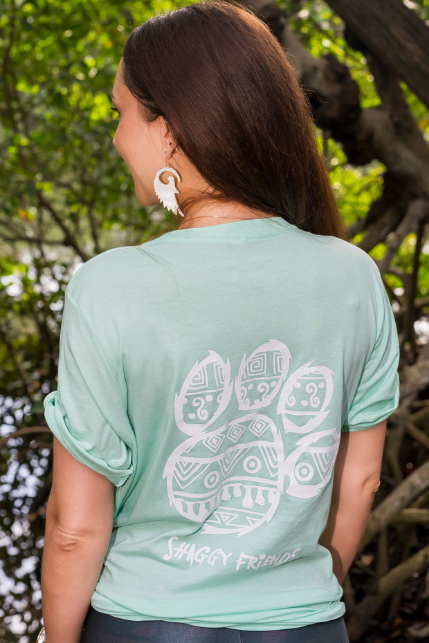 Mint Tribal Pattern Short Sleeve
