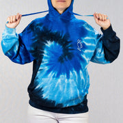 Oversized Ocean Blue Tie Dye Hoodie with Shaggy Friends Logo