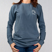 Denim Collegiate Cotton Long Sleeve Tribal Pattern