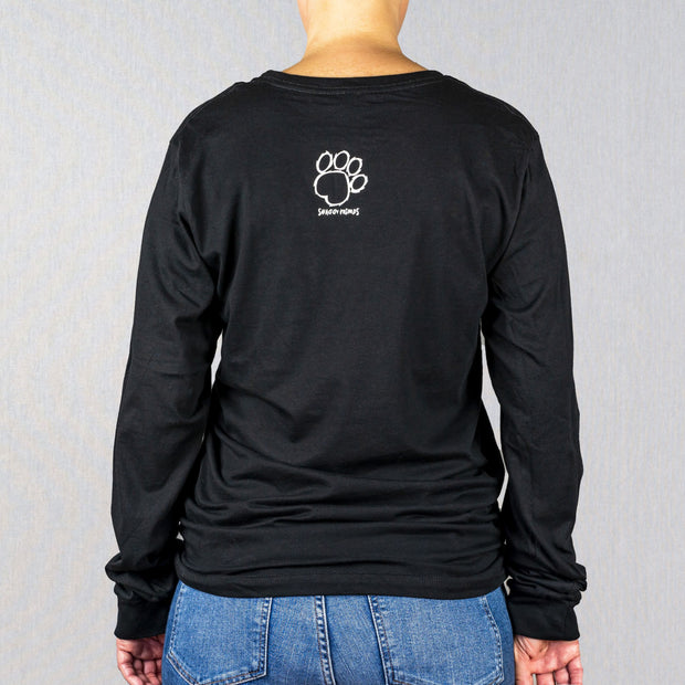 Black Shaggy Friends Collegiate Print Long Sleeve