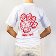 White Heart Print Short Sleeve