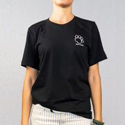Black Shaggy Logo Print Short Sleeve