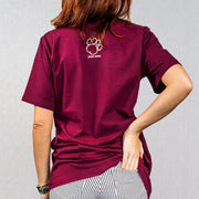 Marron Collegiate Print Short Sleeve