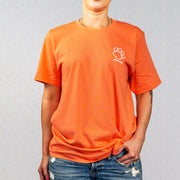 Coral Shaggy Print Short Sleeve