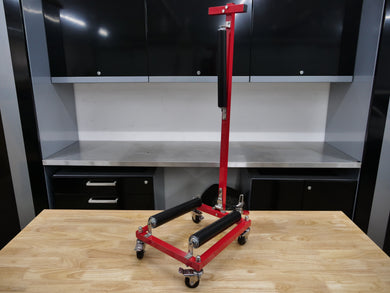 CycloShine Pro Wheel Detailing Stand - RED FRAME ONLY - ROLLERS SOLD SEPARATE