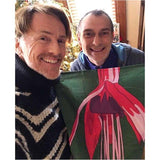 Fuchsia Tea Towel with Don O'Neill and FleurDePascal
