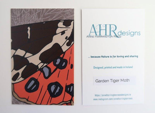 Garden Tiger Moth cushion cover label