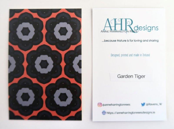 Garden Tiger tote bag label
