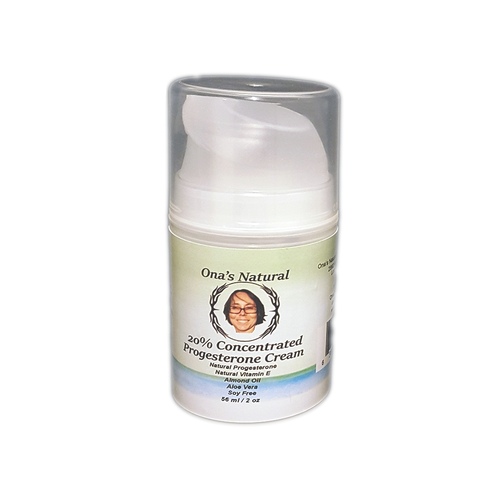 Ona's Natural Progesterone 20% Cream -  2 oz pump - Almond Oil Base