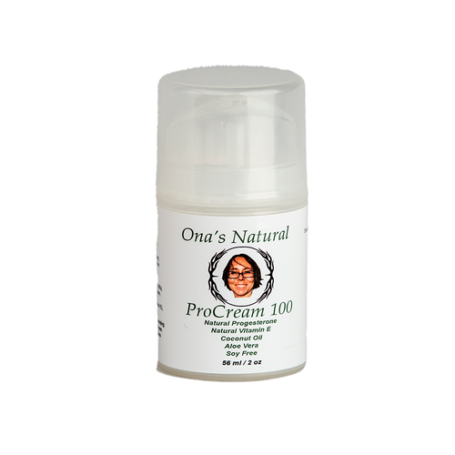 Ona's Natural Progesterone 10% - ProCream 100 -  2 oz/56 ml pump
