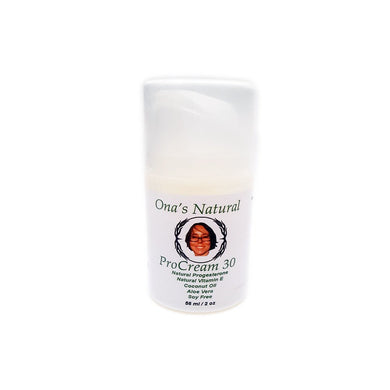 Ona's Natural Progesterone 3% - ProCream 30 -  2 oz/56 ml. pump