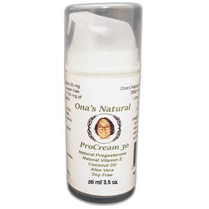 Ona's Natural Progesterone 3% - ProCream 30 - 3.5 oz pump