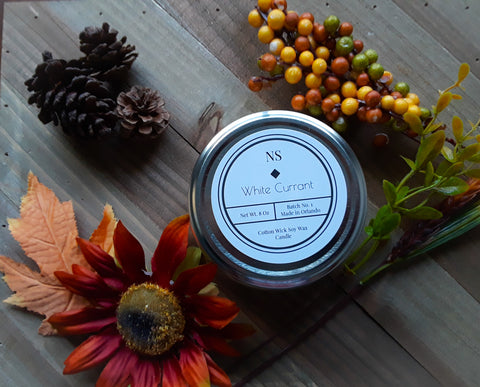 White Currant Candle
