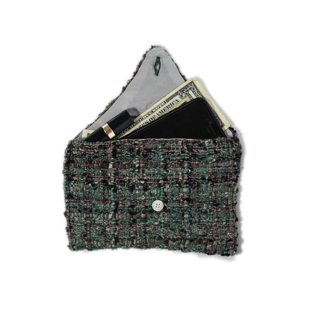Tweed Envelope Wallet