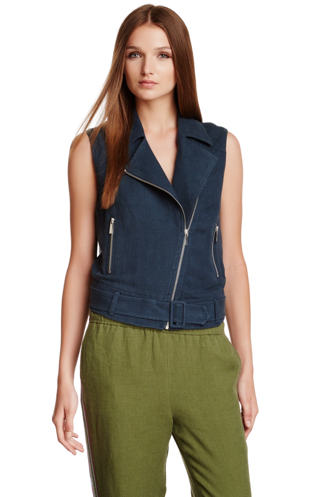 Elizabeth and James Trans Tegan Biker Vest