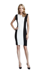 Alice + Olivia Black/White Colorblock 'Employed' Sheath Dress